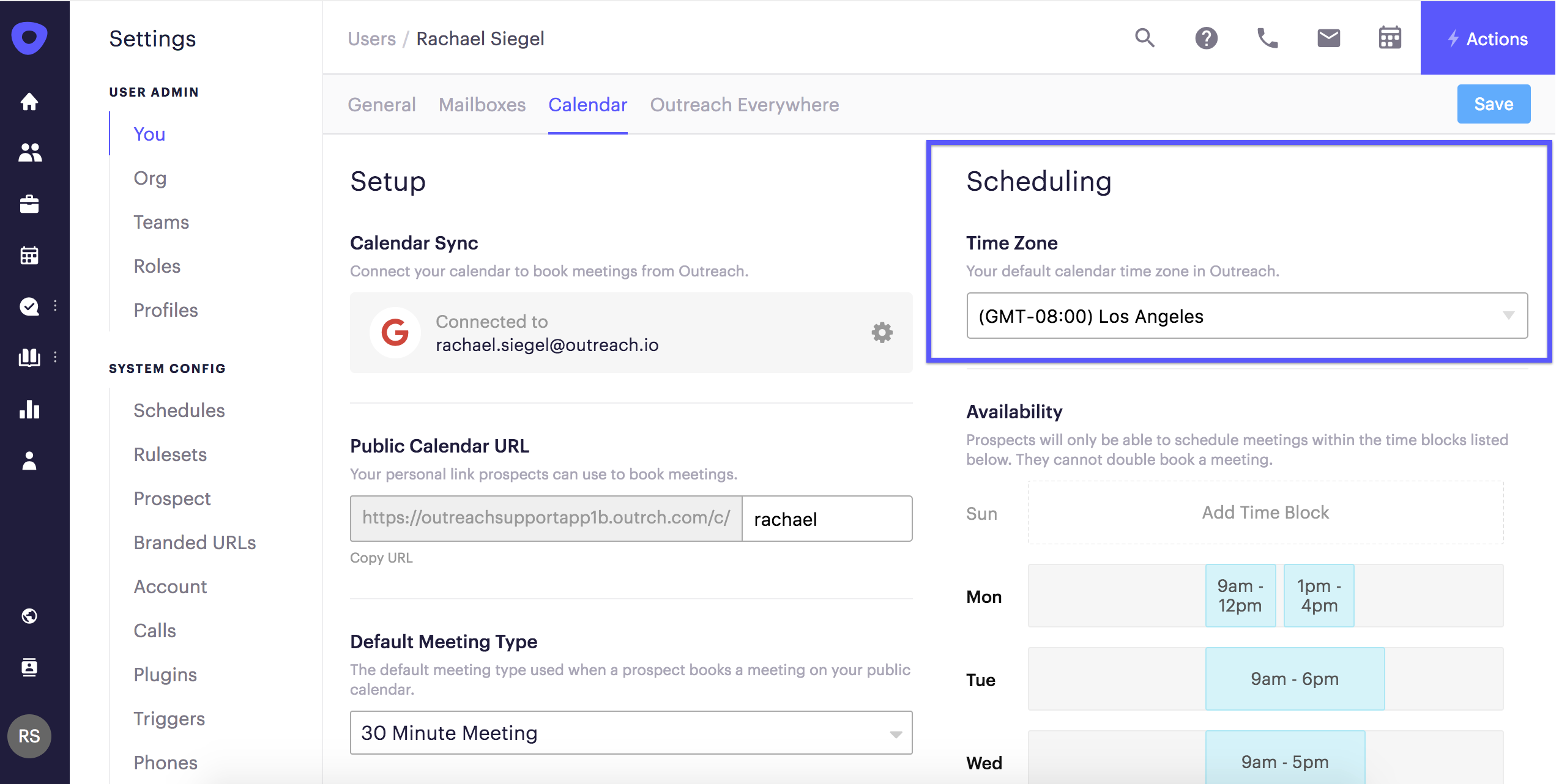 Meeting time zones outreach support when you send a meeting invitation or meeting availability through outreach the times will include your default time zone stopboris Choice Image