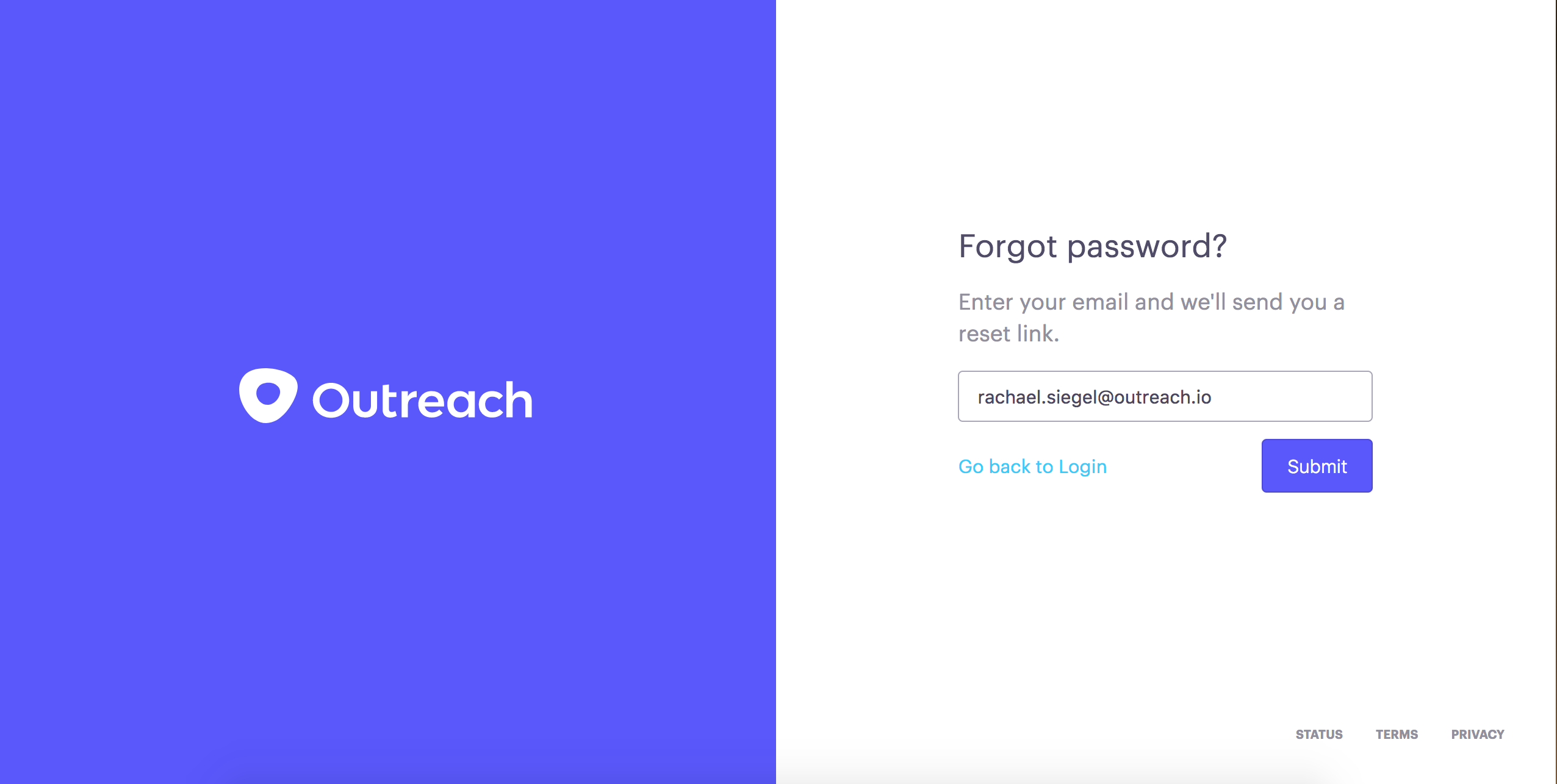 Password Reset – Outreach Support
