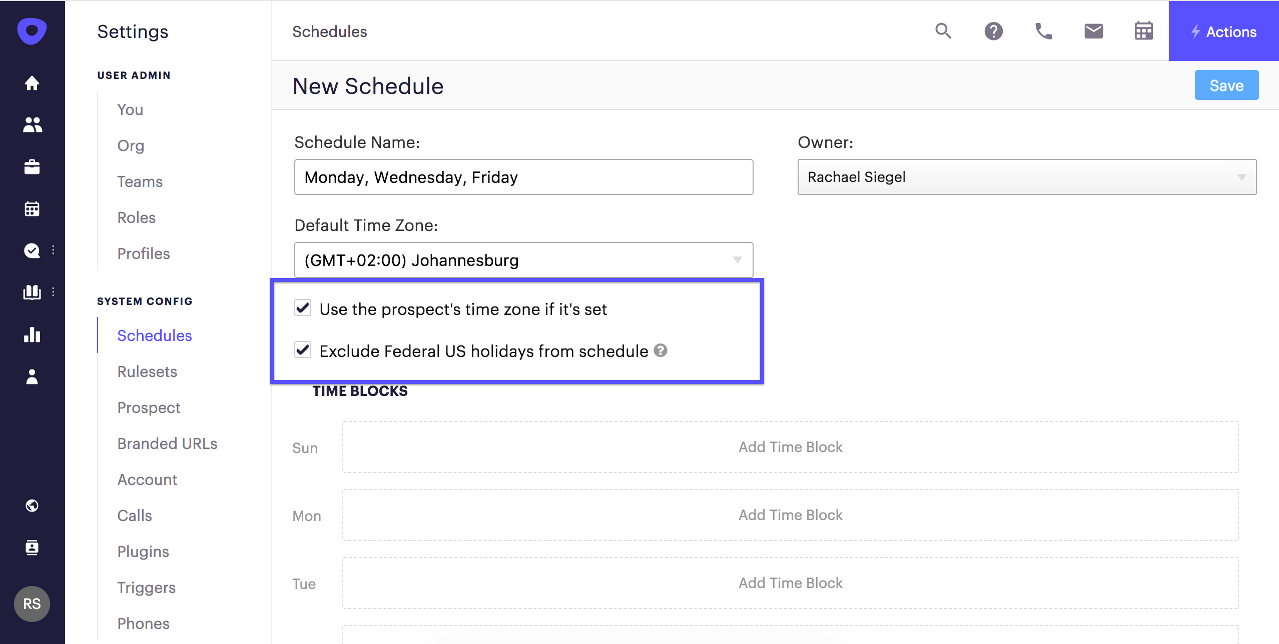 create customize sequence schedules outreach support