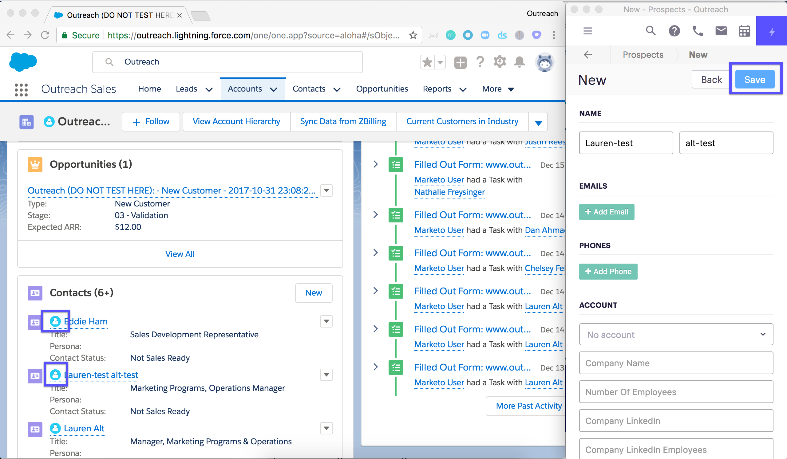 Outreach & Salesforce Lightning: Importing Leads, Contacts