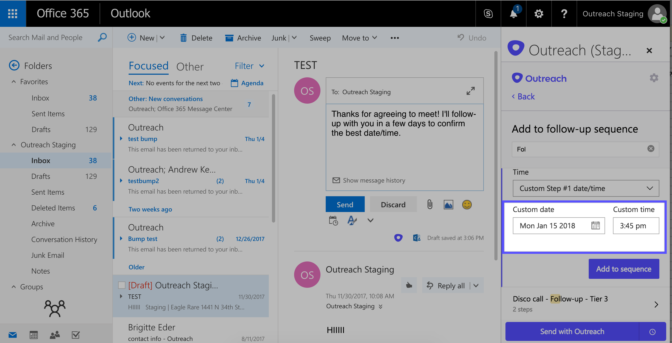 Outreach & Outlook: Using Sequences in Outlook – Outreach Support