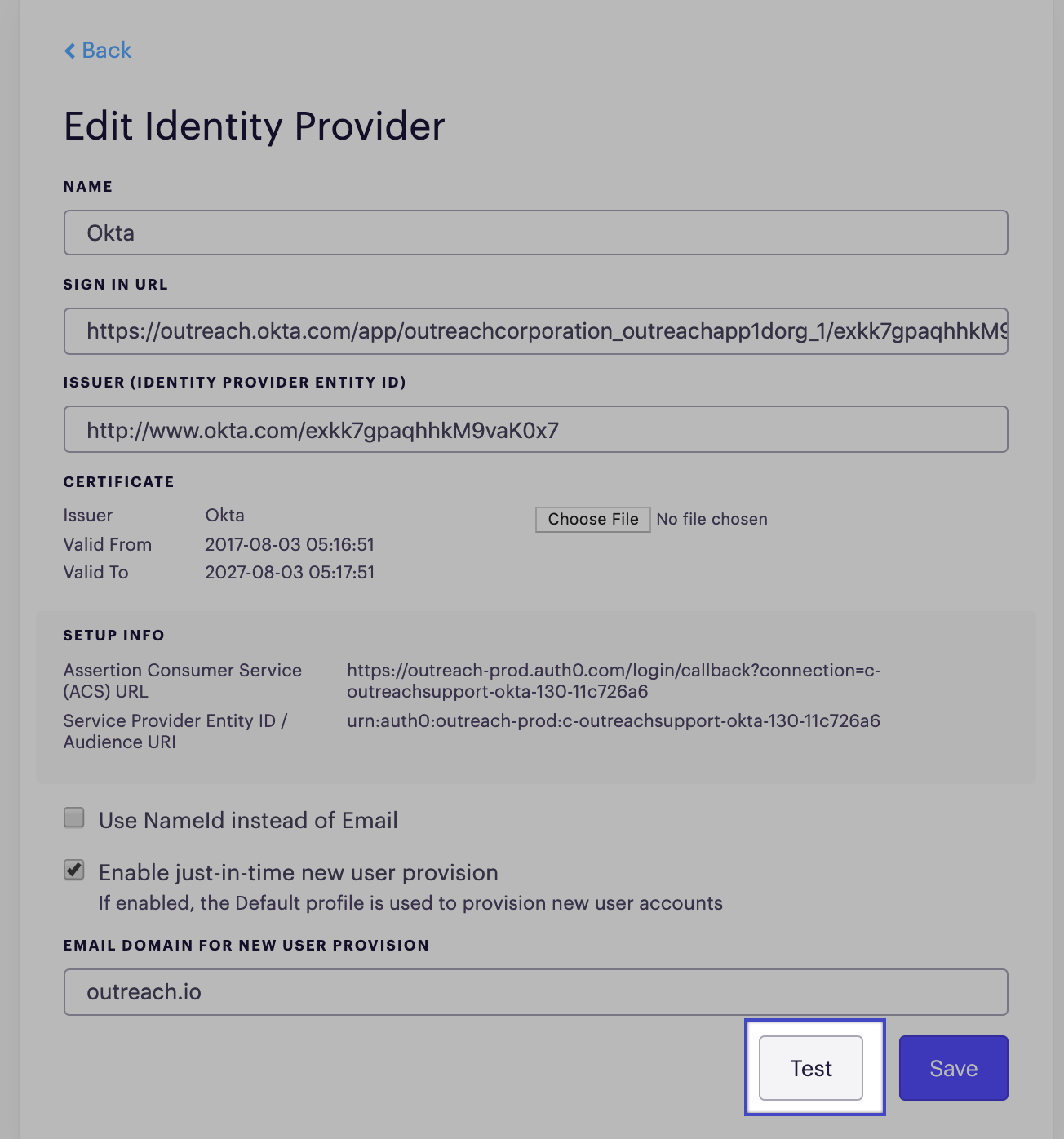 Setting up Single Sign-on (SSO) with Onelogin – Outreach Support