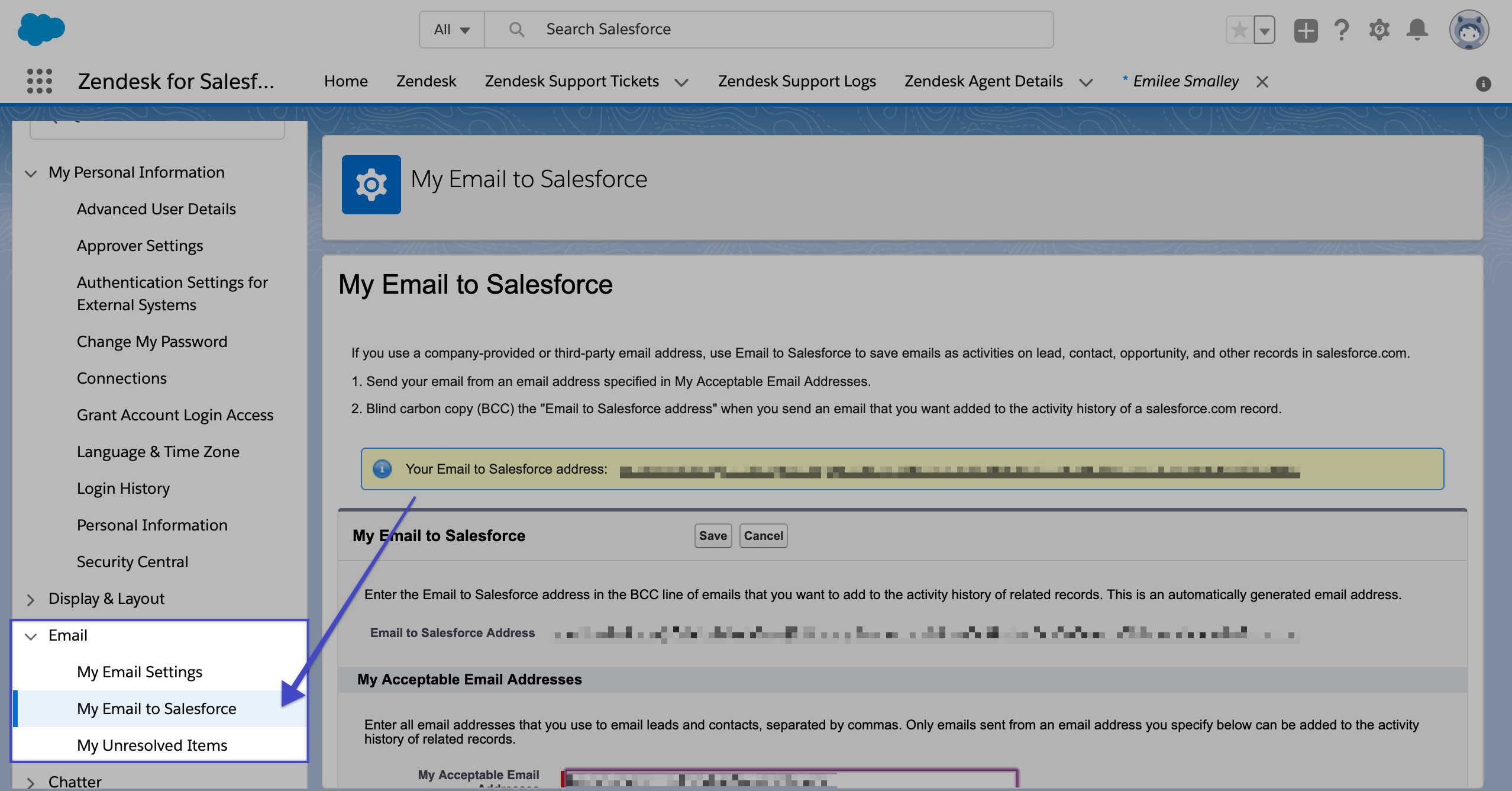 Find Your Salesforce BCC Email – Outreach Support